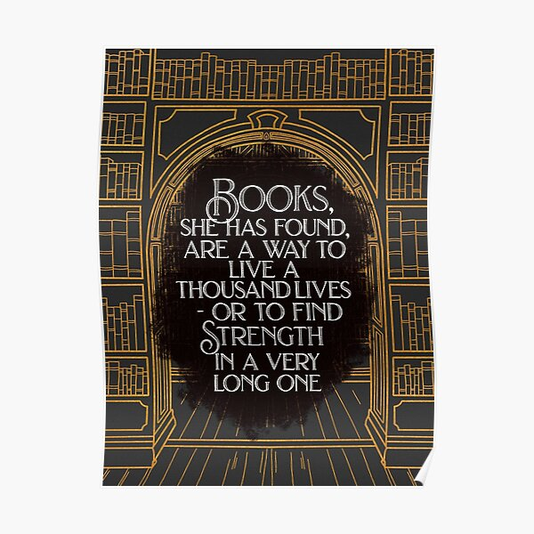 BOOKS are a way to LIVE Poster