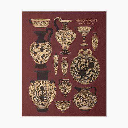 Late Minoan Ceramics Art Board Print