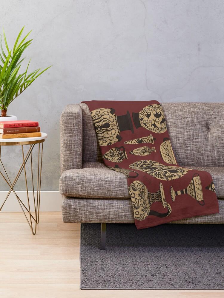 Alternate view of Late Minoan Ceramics Throw Blanket