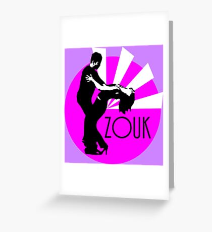 lets dance zouk Greeting Card