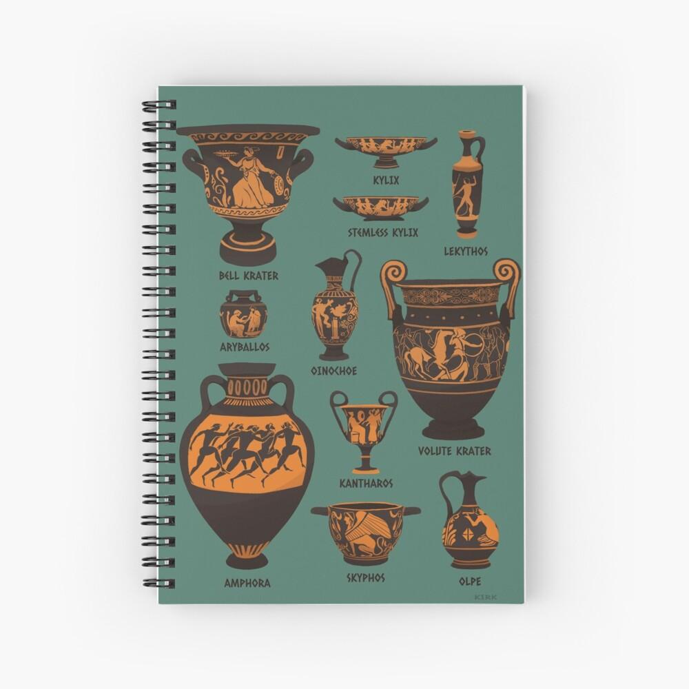 Ancient Greek Pottery Spiral Notebook