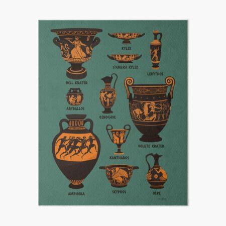 Altgriechische Töpferwaren Galeriedruck
