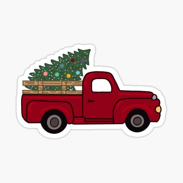 Christmas Truck Sticker
