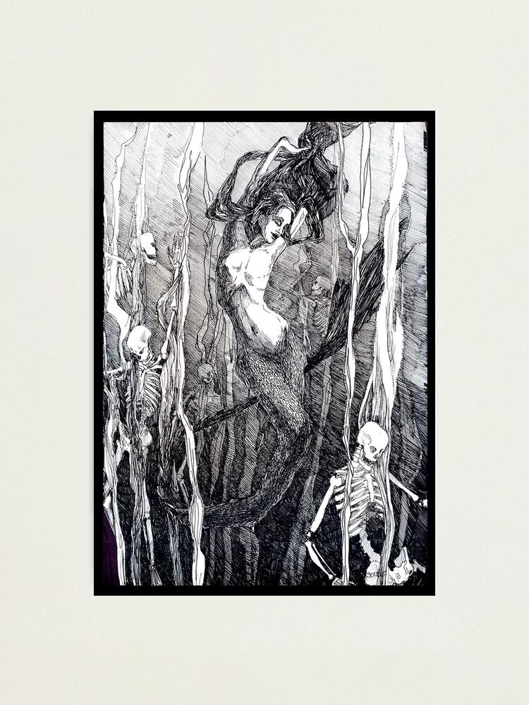 Alternate view of Mermaid. Photographic Print