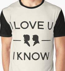 Star Wars - I Love You, I Know (Black) Graphic T-Shirt