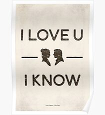 Star Wars - I Love You, I Know (Black) Poster