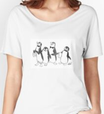 Penguins From Mary Poppins Sketch Women's Relaxed Fit T-Shirt