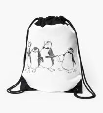 Penguins From Mary Poppins Sketch Drawstring Bag