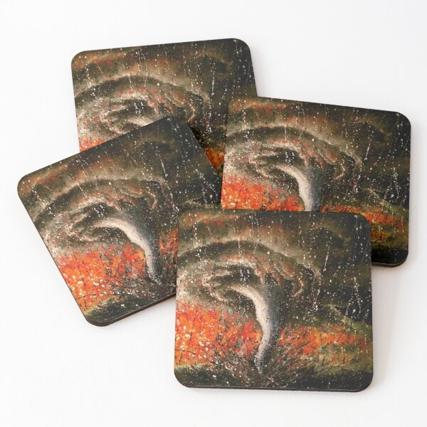 Tornado painting in abstract expressionist style Coasters (Set of 4)