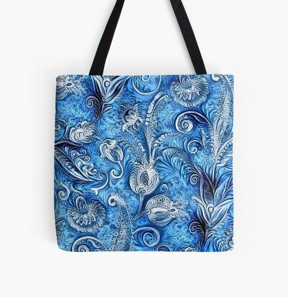 Floral Pattern 8 Allover-Print Tote Bag
