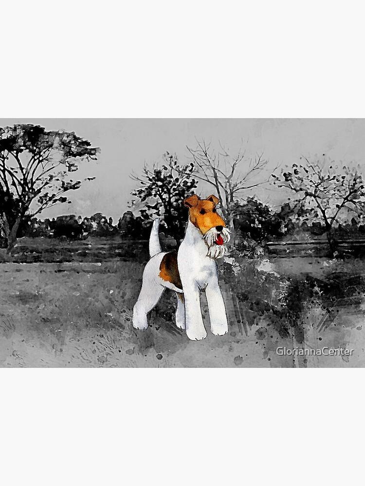 Wire Fox Terrier artwork by GloriannaCenter