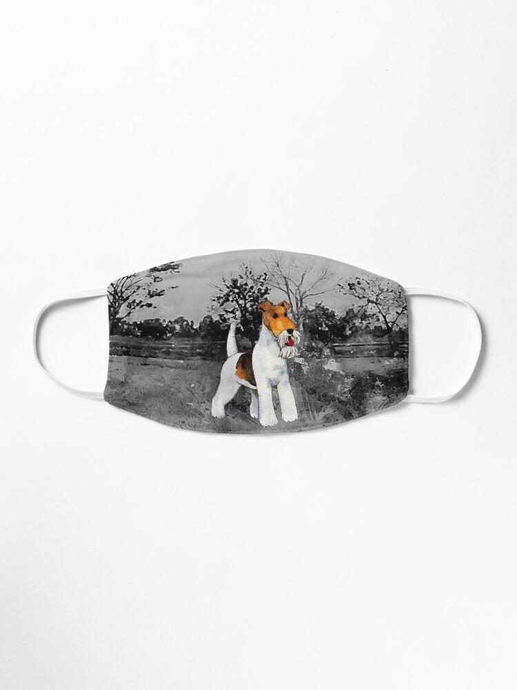 Alternate view of Wire Fox Terrier artwork Mask