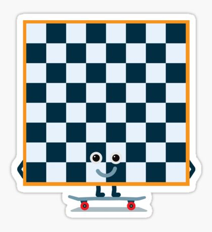 Character Building - Chessboarder Sticker