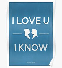 Star Wars - I Love You, I Know (color) Poster