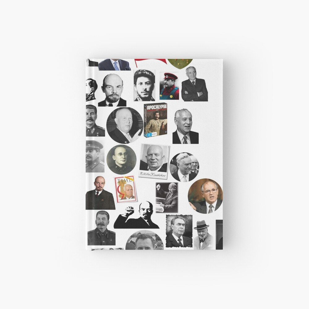 Political leaders Hardcover Journal