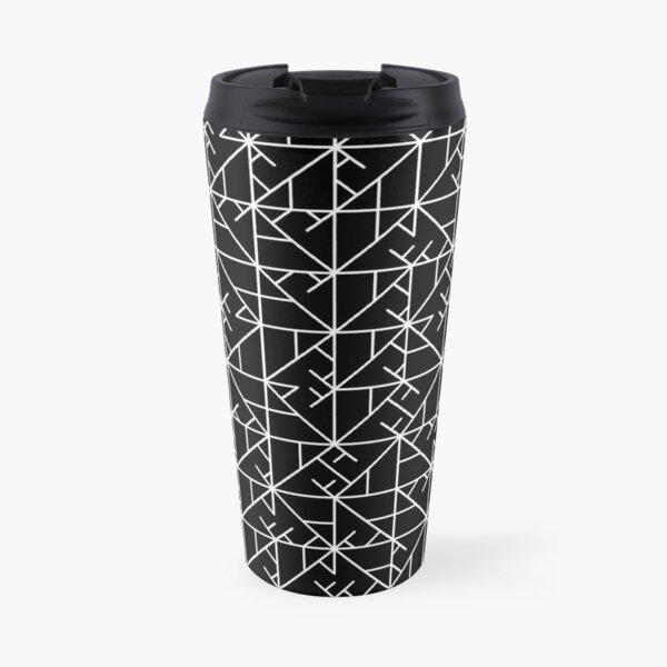 White Triangle Square Pattern | random | Illustration | cool | modern art | abstract art Travel Mug