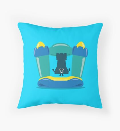 Character Building - Bouncy Castle Throw Pillow