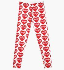 """Single"" Heart Leggings"