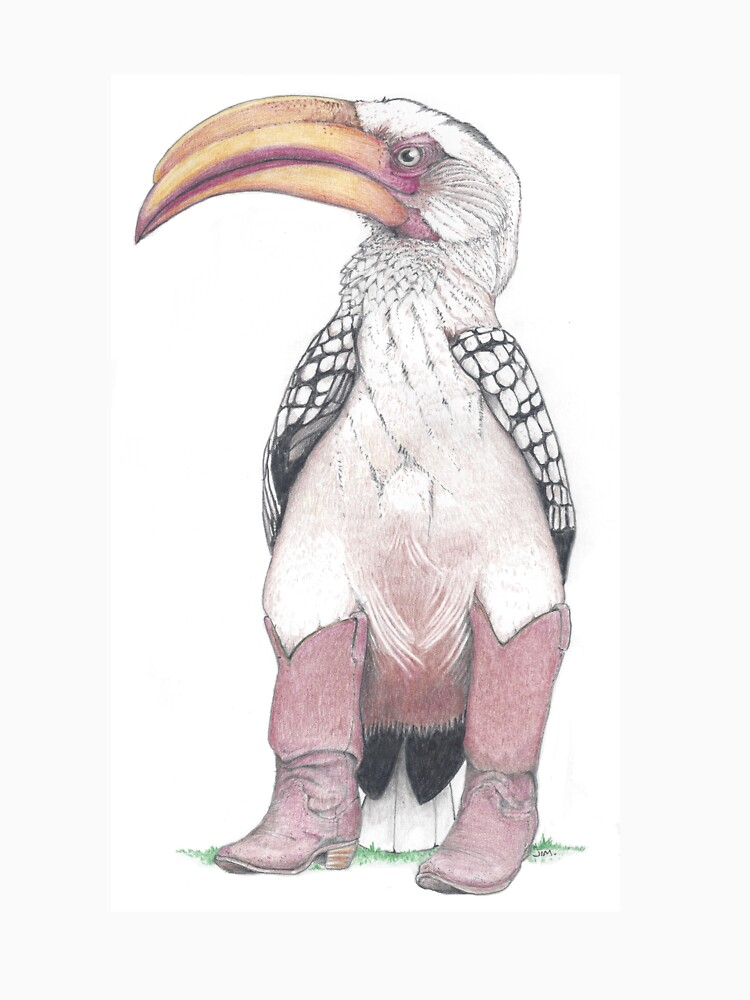 Hornbill in cowboy boots by JimsBirds