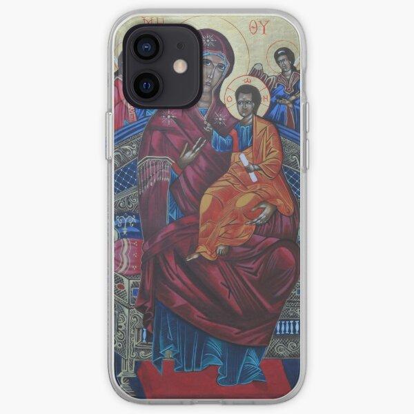 Byzantine Icon of Panagia Pantanassa iPhone Soft Case