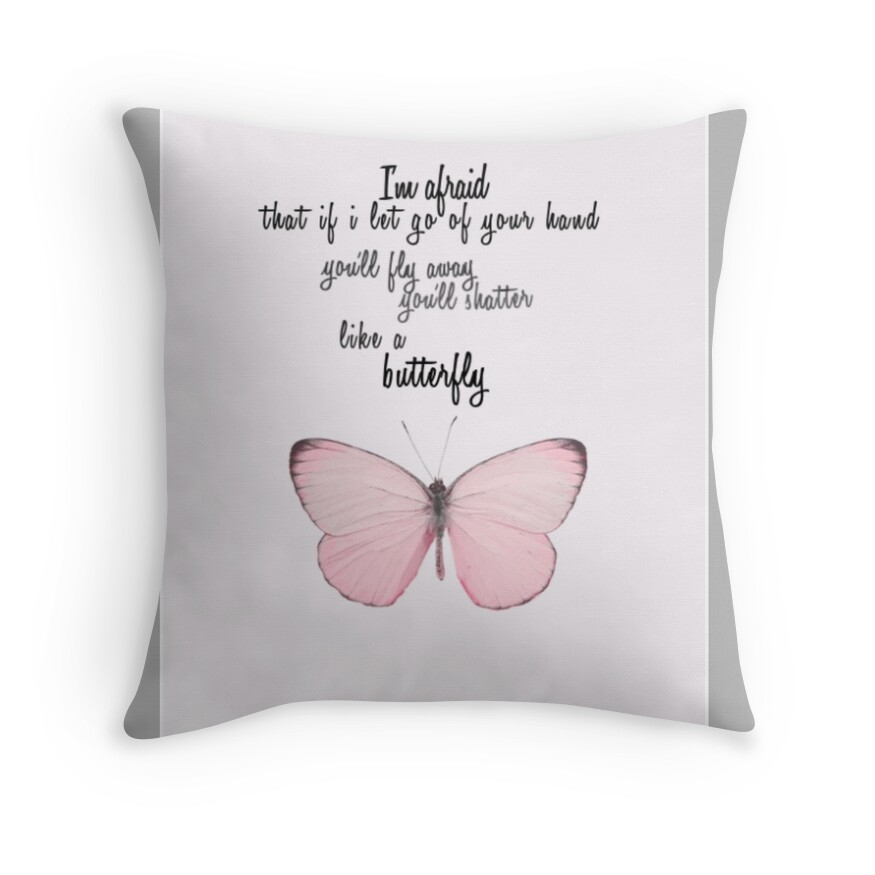 Quot Bts Quot Butterfly Quot Lyrics Quot Throw Pillows By J My Hope