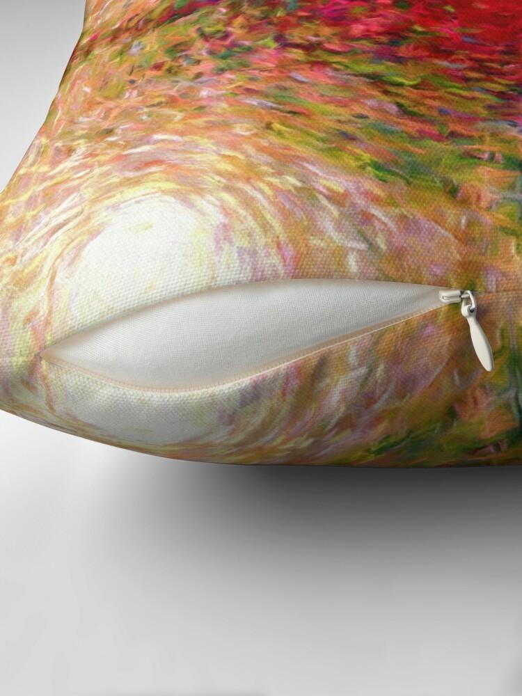 Alternate view of Vivid Nodes Throw Pillow