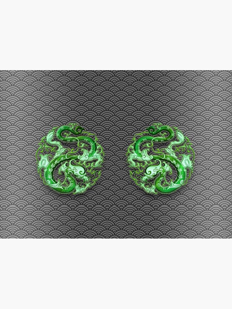 Twin Jade Dragons by PLUGOarts