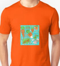 Carrot Love feat. Sliced Carrot, Steamed Carrot and Baby Carrot Unisex T-Shirt