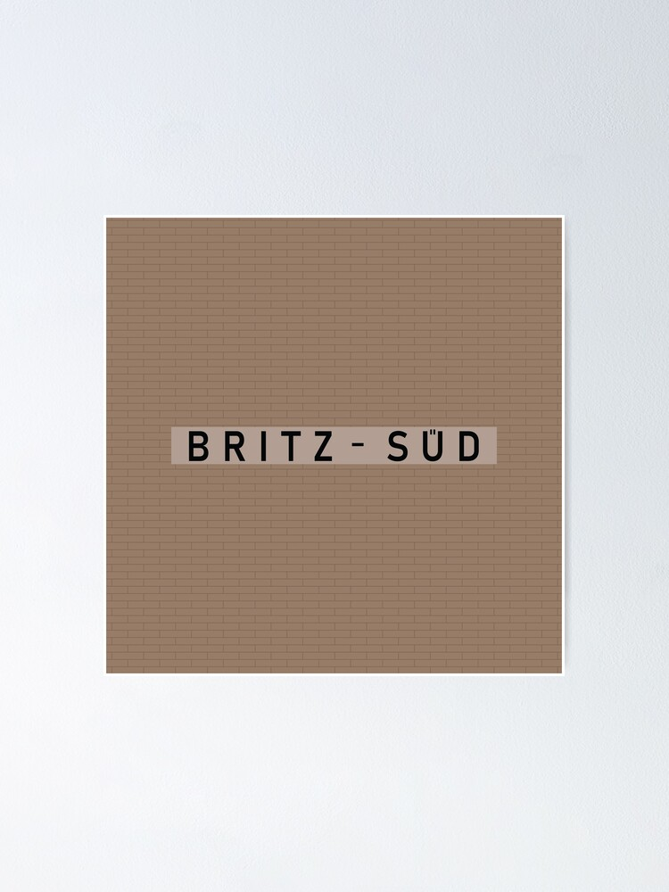 Alternate view of Britz-Süd Station Tiles (Berlin) Poster
