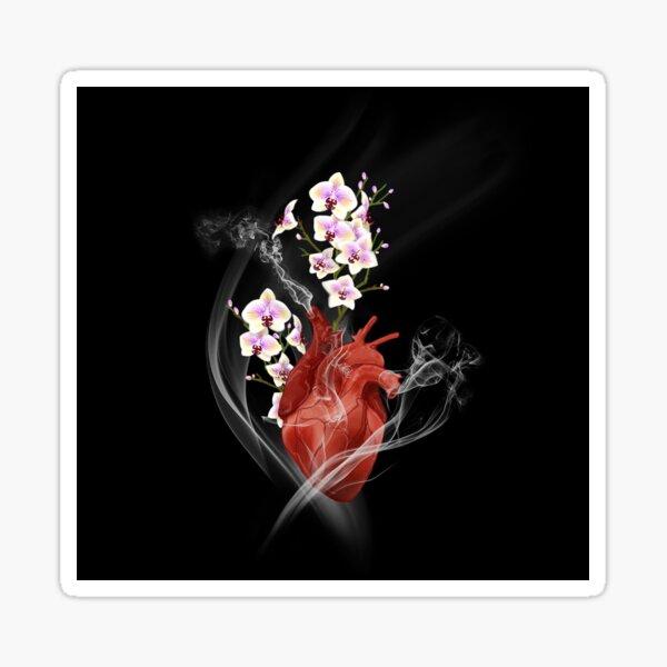 Orchid Heart Sticker