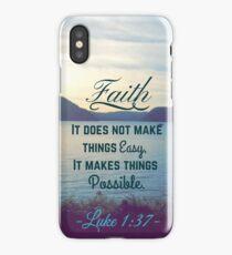 Faith Bible Verse- Luke 1:37 iPhone Case