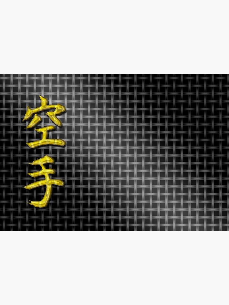 Karate gold on black by PLUGOarts