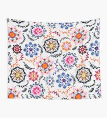 Happy Color Suzani Inspired Pattern Wall Tapestry