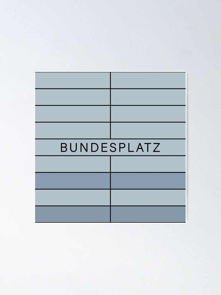 Alternate view of Bundesplatz Station Tiles (Berlin) Poster