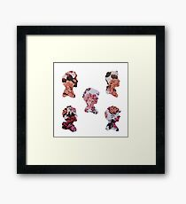 One Direction Floral Silhouettes Framed Print