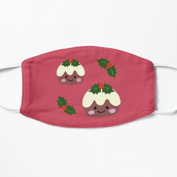 CHRISTMAS PUDDING CARD MASK Mask-arade Festive Pudding Half Mask PUD01