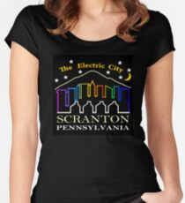 The Electric City  Women's Fitted Scoop T-Shirt
