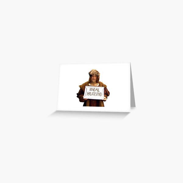 richard iii horrible histories outline sticker Greeting Card