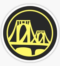 Pittsburgh Roberto Clemente Bridge Yellow Sticker