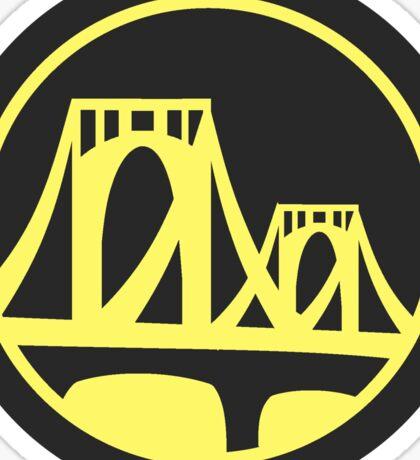 Pittsburgh Roberto Clemente Bridge Yellow Sticker