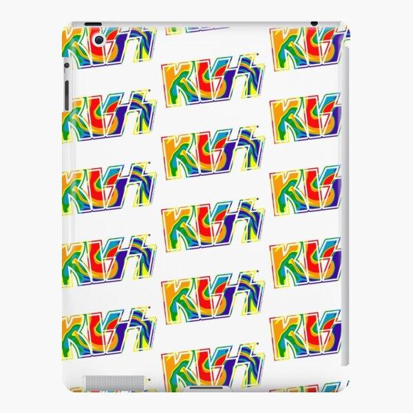 Rainbow Tie-Dye Kiss The Band Logo  iPad Snap Case