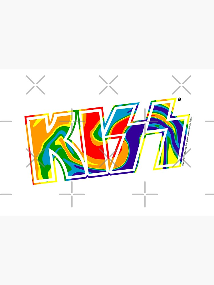 Rainbow Tie-Dye Kiss The Band Logo  by stephwil44