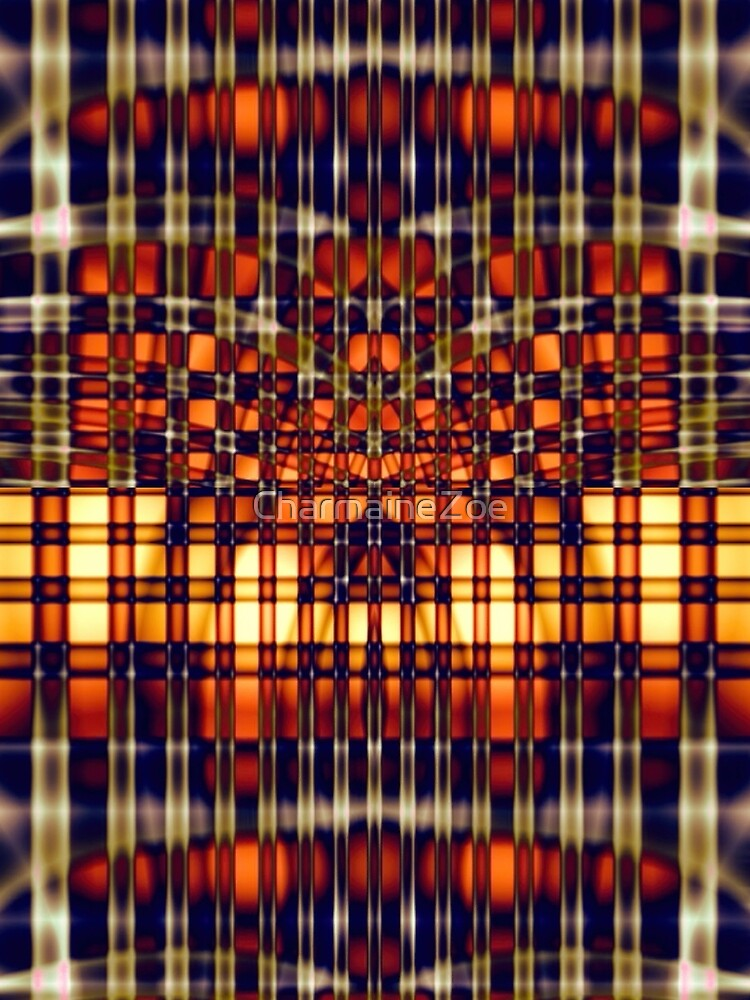 Abstract Lines in Citrus by CharmaineZoe