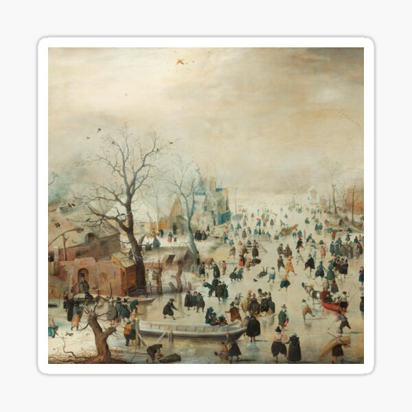 Holiday Ice Skating Rijks Museum Collection Sticker