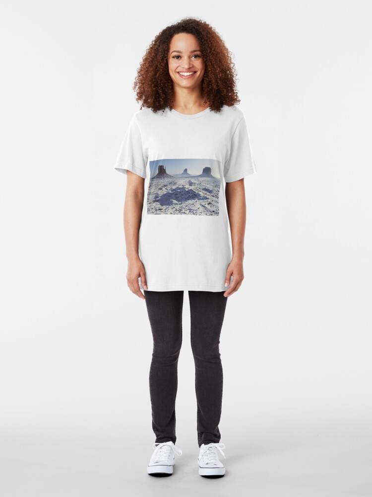 Alternate view of Monument Valley in the snow Slim Fit T-Shirt