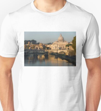 St Peter's Morning Glow - Impressions Of Rome T-Shirt