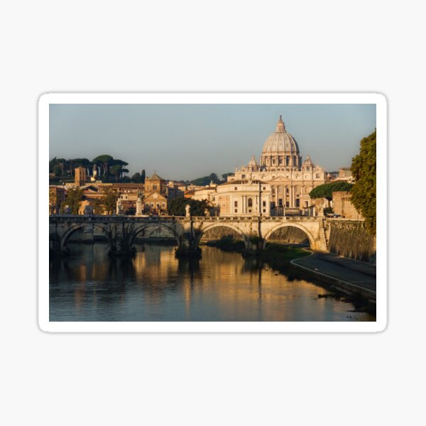 St Peter's Morning Glow - Impressions Of Rome Sticker