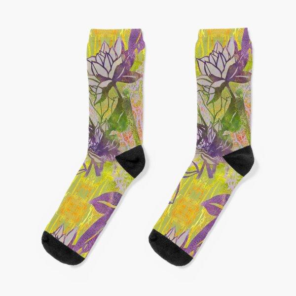 Lotus and Paisley RB Socks