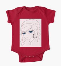 Anime girl with blue eyes One Piece - Short Sleeve