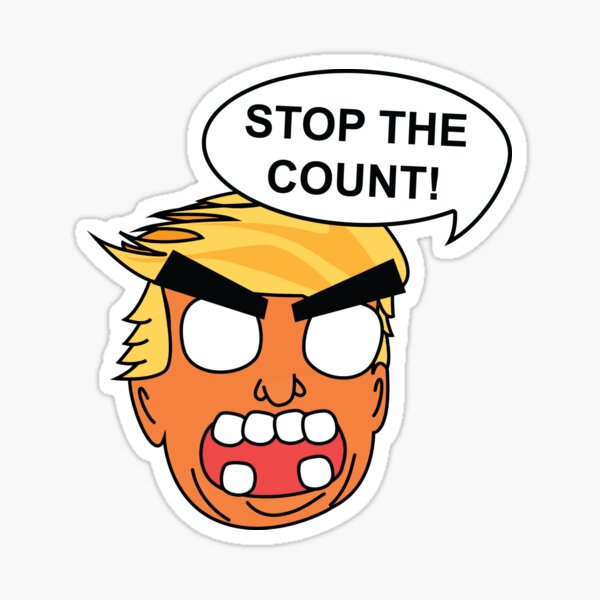 STOP THE COUNT! Sticker